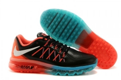 Nike Air Max 2015 black leather/red