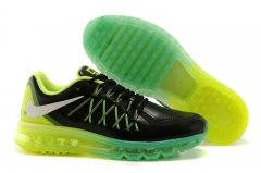 Nike Air Max 2015 black leather/green