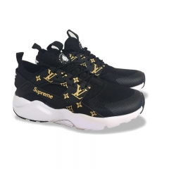 Nike Air Huarache Ultra x Supreme x LV Black